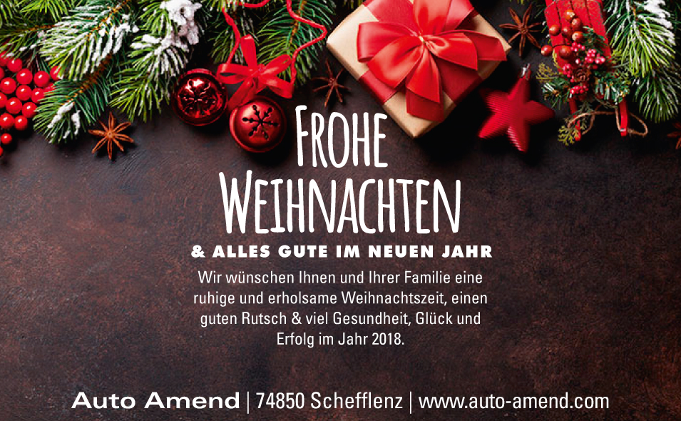 auto amend frohe weihnachten. Black Bedroom Furniture Sets. Home Design Ideas